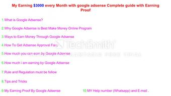How to Earn Money Online with Google Adsense Complete Guide with Earning Proof in urdu/Hindi course image