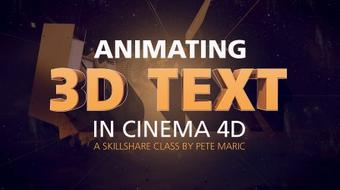 Animating 3D Text in Cinema 4D course image