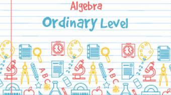 Strand 4 Ordinary Level Algebra course image