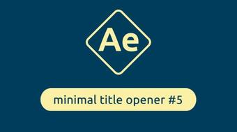 Minimal Title Opener in After Effects #5 course image