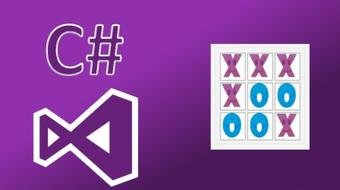 Learn To Program Tic-Tac-Toe with C# and Visual Studio! course image