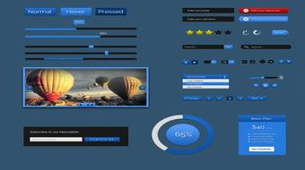 Design Simple GUI kit in Photoshop for Beginners course image