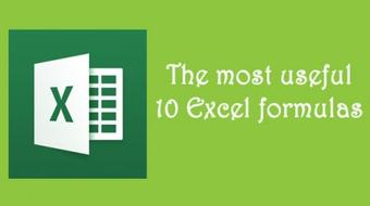 The most useful 10 Excel formulas course image