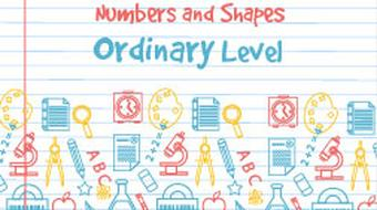 Strand 3 Ordinary Level Numbers and Shapes course image