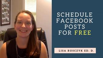 Schedule Facebook Posts for Free: Save Valuable Time course image
