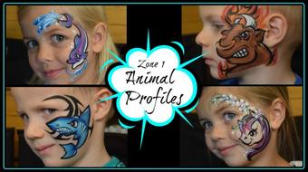Animals in Profile: Face Painting in Zone 1 course image