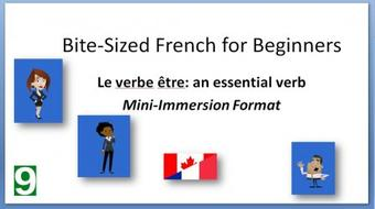 Bite-Sized French for Beginners: Le verbe Être course image