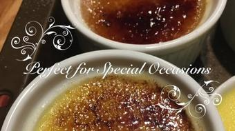 Learn How Make Champagne Flavored Creme Brûlée course image