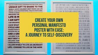 Create Your Own Personal Manifesto Poster With Ease: A Journey To Self-Discovery course image