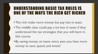 Tax Strategies of the Wealthy course image