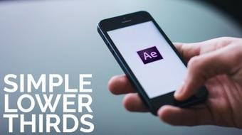 Easy Lower Third Graphic in After Effects course image