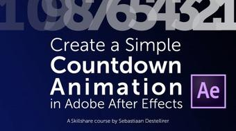 Create a Simple Countdown Animation in Adobe After Effects course image