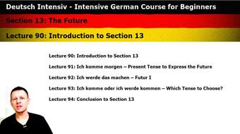 Intensive German: Part 13 - The Future course image