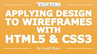 Applying Design to Wireframes with HTML5 & CSS3 course image