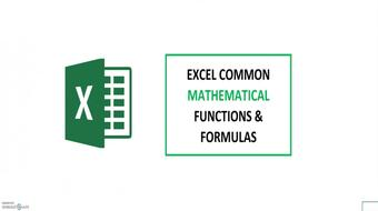 10 Excel MATH Functions in 10 mins? No problem. course image