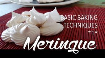 Basic baking techniques 1: Meringue course image