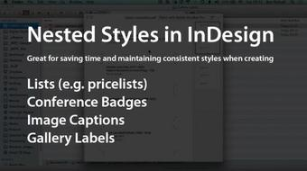 InDesign: Save Time by Using Nested Paragraph Styles - Gallery Labels course image