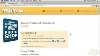 Building A Website With Photoshop CC course image