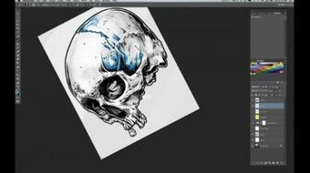 Illustrate A Screen-Printed Skull T-shirt From Photo Reference course image