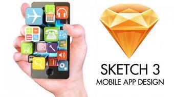 Sketch 3 - Mobile App Design (UI & UX Design) course image