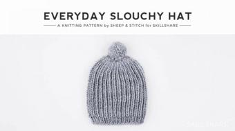 Knitting III: Learn Knitting in the Round with a Slouchy Hat course image