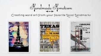 Handmade Hometown: Creating Word Art from Your Favorite Local Landmarks course image