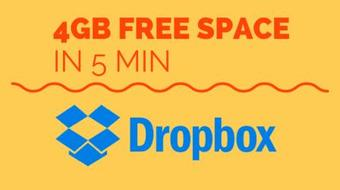 Earn 4GB Free Dropbox Space in 5 minutes course image